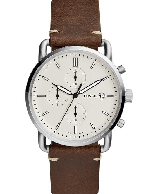 Fossil The Commuter Chronograph Brown Watch 42mm