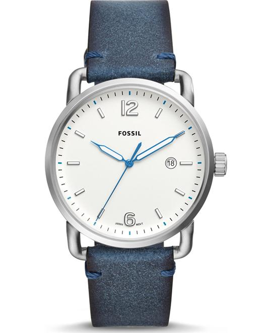 Fossil The Commuter Three-Hand Date Blue Watch 42mm