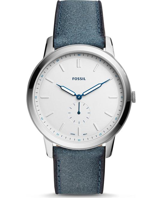 Fossil The Minimalist Two-Hand Blue Watch 44mm