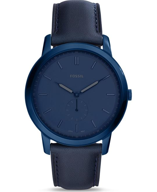 Fossil The Minimalist Two-Hand Indigo Blue Watch 44mm