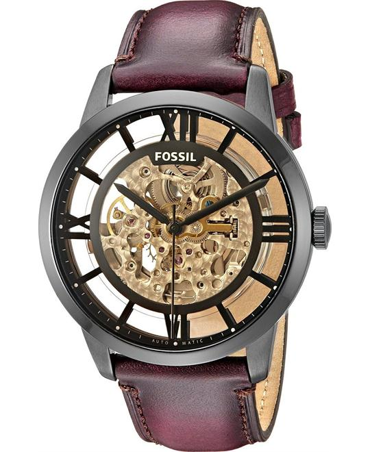 FOSSIL Townsman Automatic Brown Skeleton Men's Watch 44mm