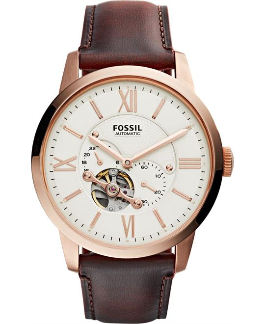 Fossil Townsman Beige Dial Watch 44mm