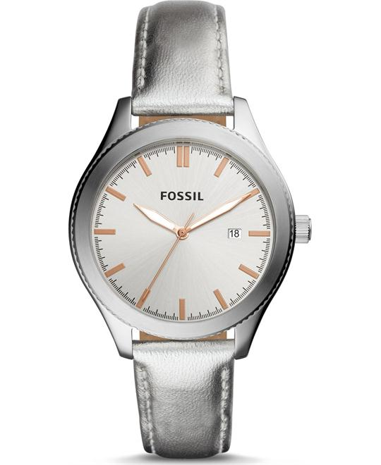 Fossil Typographer Silver Metallic Watch 40mm