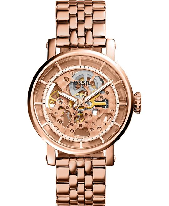 Fossil Women's Automatic Original Boyfriend Rose Gold Watch 38mm
