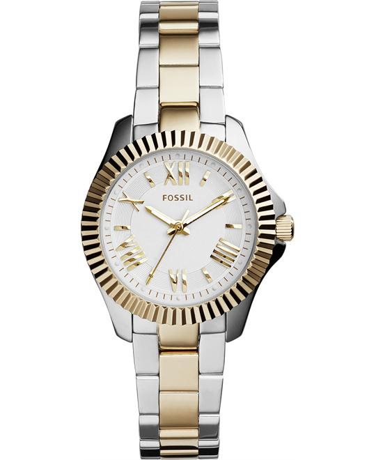 Fossil Women's Cecile Two-Tone Watch 29mm