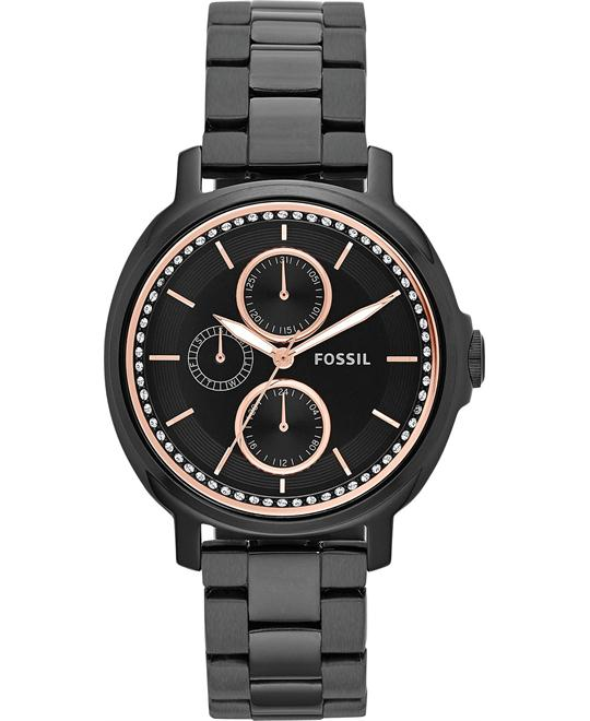 Fossil Women's Chelsey Black-Tone Watch 39mm