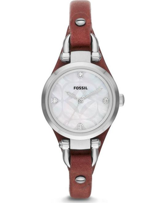 Fossil Women's Georgia Mother Of Pearl Watch 26mm