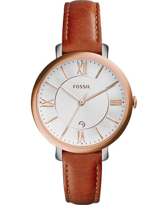 Fossil Women's Jacqueline Rose Gold-Tone Watch 36mm