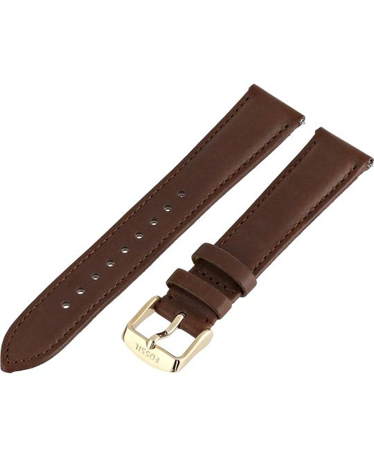 Fossil Women's Leather Watch Strap - Brown 18mm