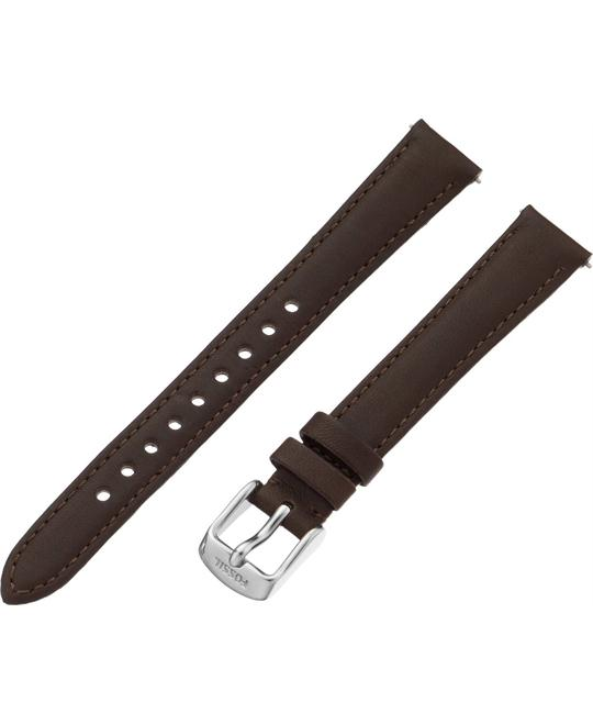 Fossil Women's Leather Watch Strap - Espresso 14mm