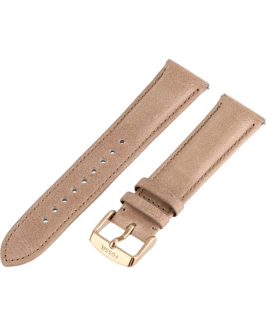 Fossil Women's Leather Watch Strap - Tan 20mm
