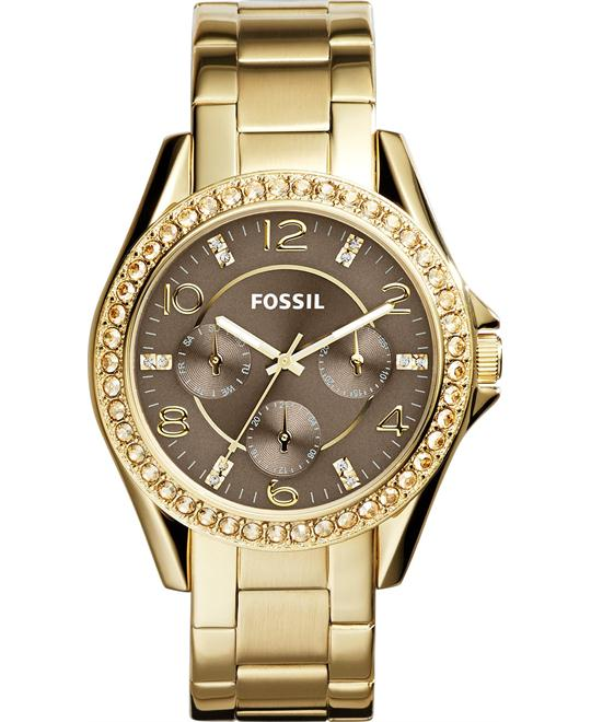Fossil Women's Riley Gold-Tone Watch 38mm