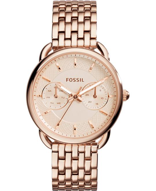 Fossil Tailor Women's Rose Gold-Tone Watch 35mm