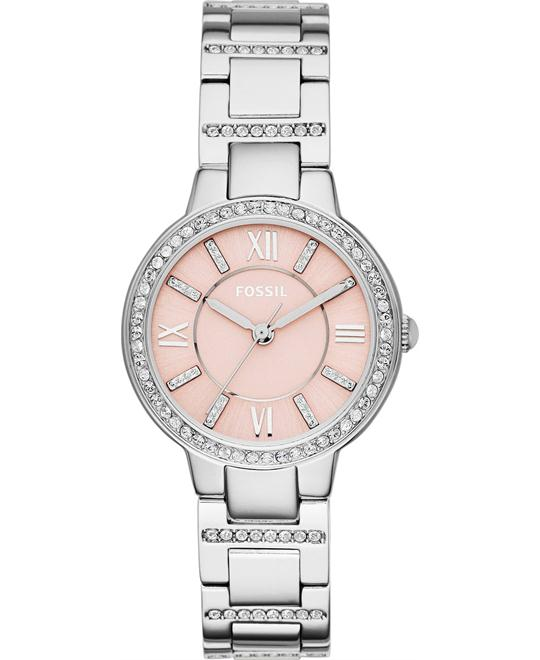 Fossil Women's Virginia Crystal Accent Watch 34mm
