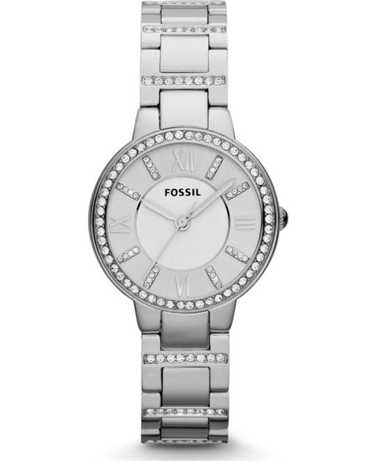 Fossil Women's Virginia Silver Watch 30mm