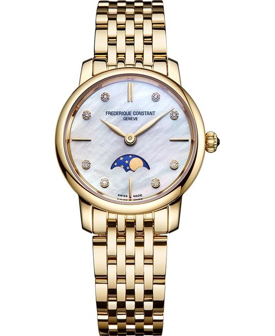 đồng hồ Frederique Constant FC-206MPWD1S5B Slimline Moonphase 30mm