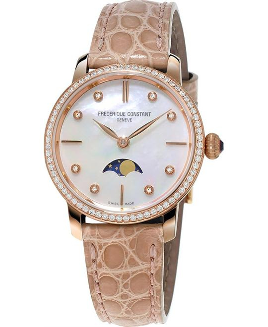 đồng hồ Frederique Constant FC-206MPWD1SD9 Slimline Moonphase 30mm