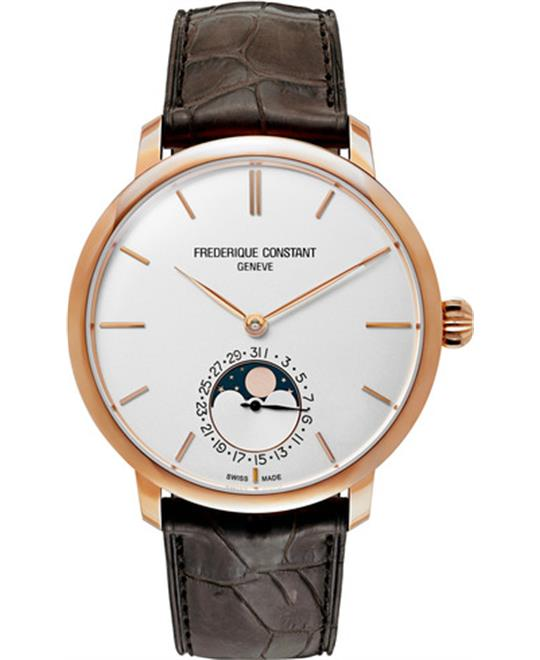 Frederique Constant FC-705V4S9 Slimline Moonphase Watch 42mm