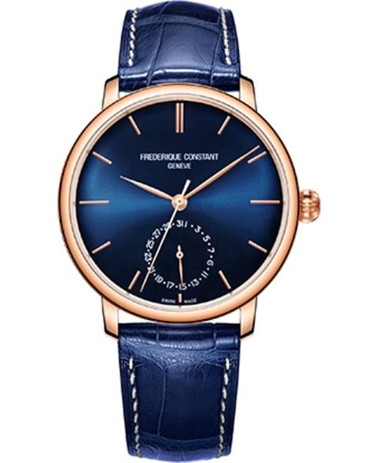 Frederique Constant FC-710N4S4 Slimline Navy Watch 42mm