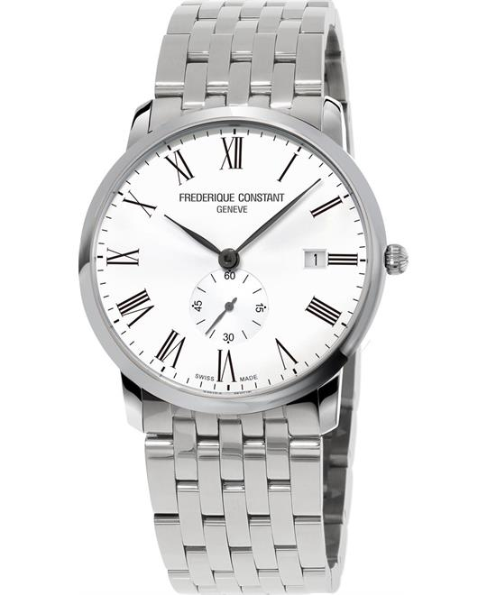 Frederique Constantslim Line FC-245WR5S6B White Watch 39mm