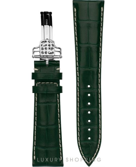 GREEN ALLIGATOR STRAP 22MM