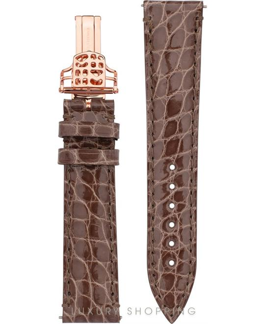 GREY ALLIGATOR STRAP 18MM
