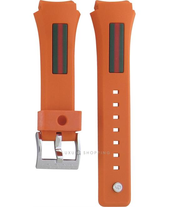 Gucci 137.3 Rubber Orange Original Watch Strap 18mm
