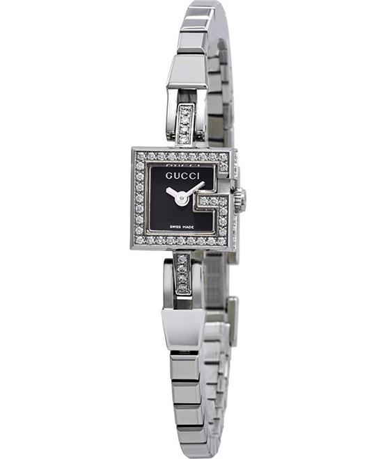 GUCCI Black Dial Stainless Steel Diamonds Ladies Watch 14mm