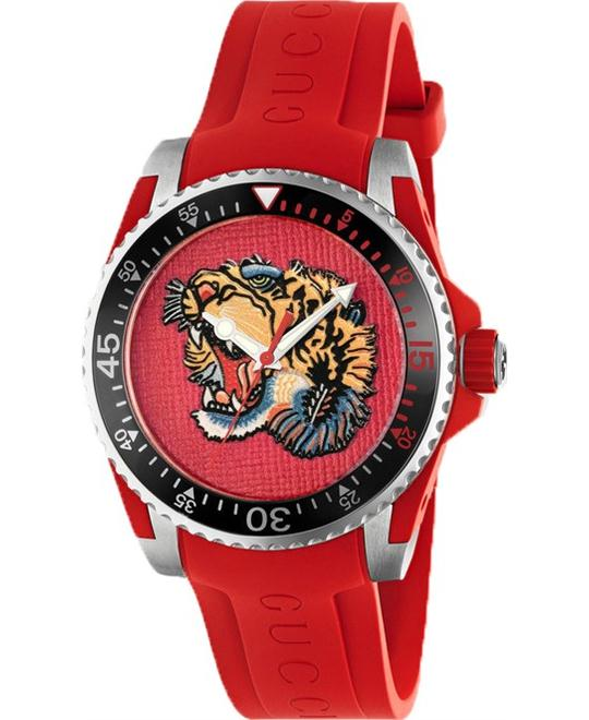 Gucci Dive Tiger Motif Dial Men's Watch 40 mm