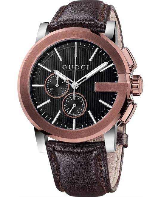 Gucci  G-Chrono Chronograph Brown Swiss Watch 44mm