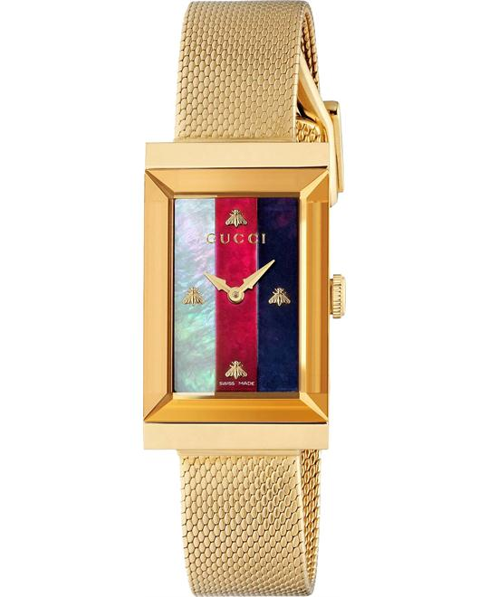 Gucci G-Frame Gold Watch 21x34mm