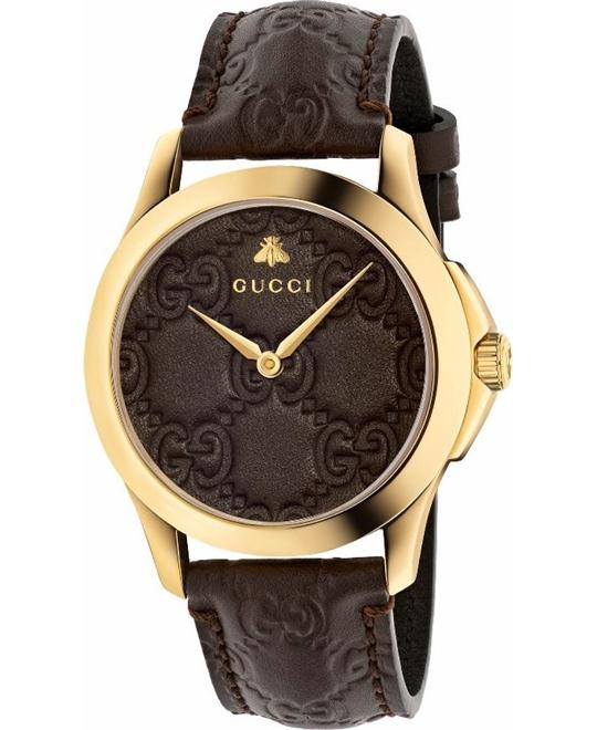 GUCCI G-Timeless Brown GG Men's Watch 38MM