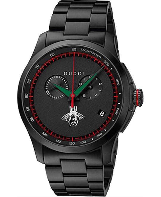 Gucci G-Timeless Chronograph Black Watch 44mm