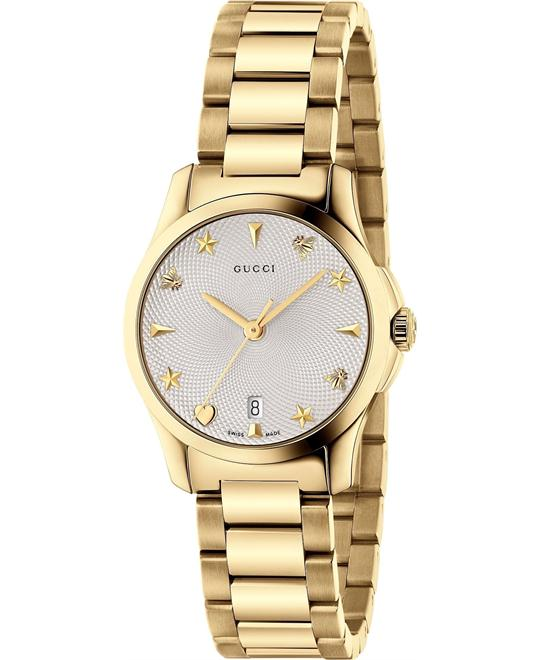 GUCCI G-Timeless Gold-Tone Ladies Watch 27mm