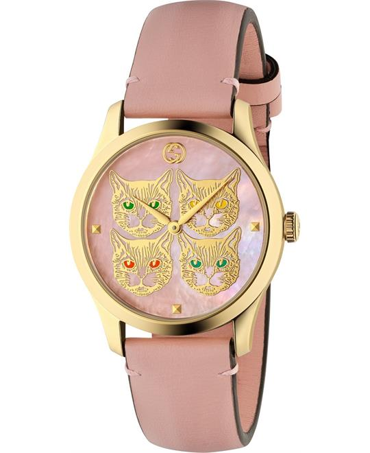 đồng hồ Gucci G-timeless Pink Blooms Watch 38mm