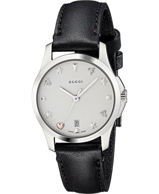 Gucci G-Timeless Silver Dial Ladies Watch 27mm