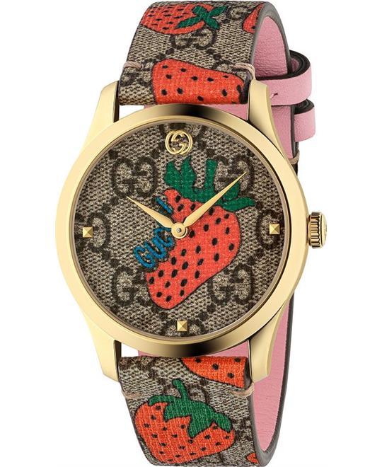 MSP: 87935 Gucci G-Timeless Strawberry Watch 38mm