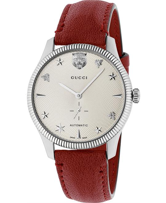 đồng hồ nam thời trang Gucci G-Timeless Swiss Automatic Red Watch 40mm
