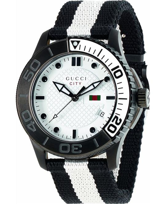 dong ho nam GUCCI G-Timeless XL White Watch 44mm