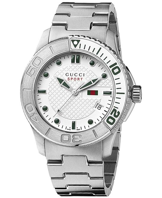 GUCCI G Timeless Silver Dial  Men's Watch 44mm