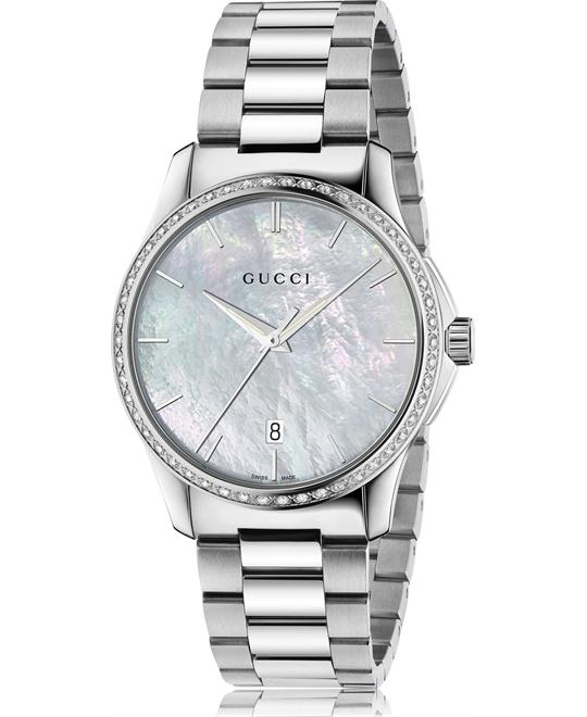 GUCCI G-Timeless  White Mother of Pearl Watch 38mm
