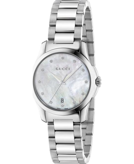 GUCCI G-Timeless  Mother of Pearl Diamond  Watch 27mm
