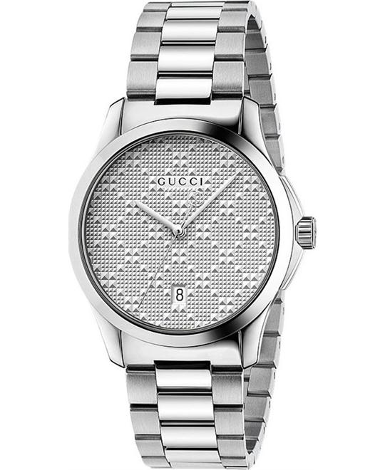 GUCCI G-timeless Silver Unisex Watch 38mm
