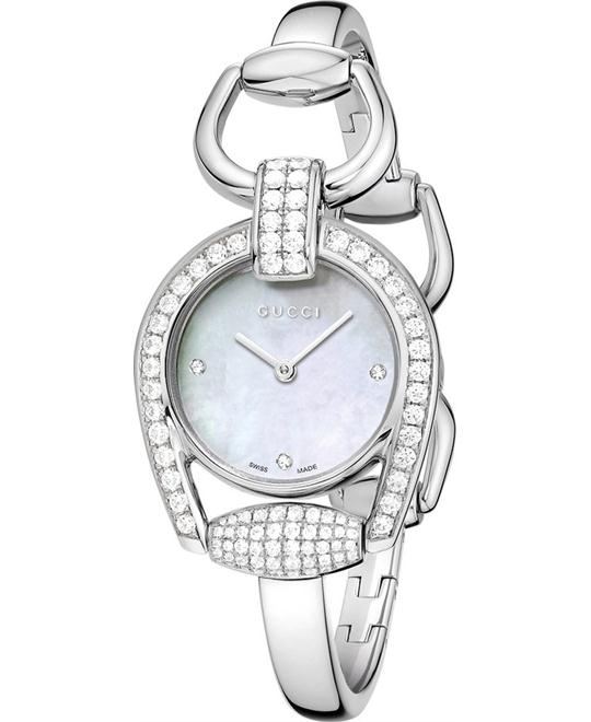 Gucci Horsebit  Diamond Womens Watch 28mm