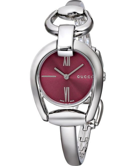 Gucci Horsebit Collection Red Ladies Watch 28mm