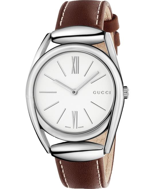 Gucci Horsebit Silver Ladies Watch 34mm
