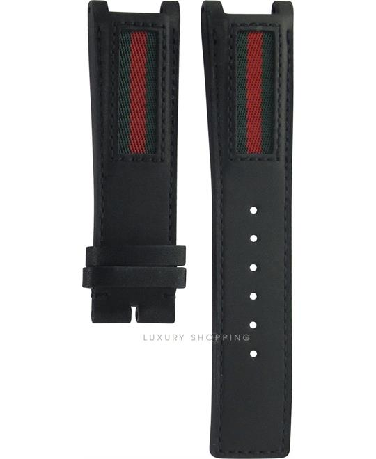 Gucci Leather Black Original Watch Strap 22/20mm