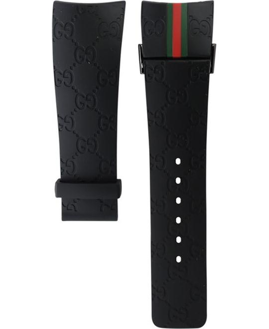 Gucci Rubber Black Watch Strap 26mm