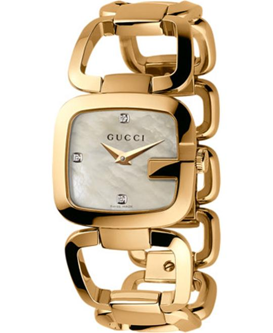 GUCCI G-GUCCI Mother of Pearl Diamonds 24x 22.5mm