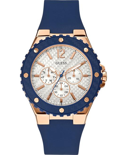 GUESS Blue Silicone Strap Watch 41mm